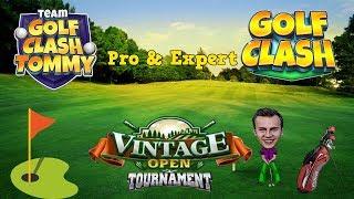 Golf Clash tips, Playthrough, Hole 1-9 - PRO & EXPERT - Vintage Open Tournament!