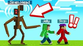 RUN From SIREN HEAD In MINECRAFT! (Scary)