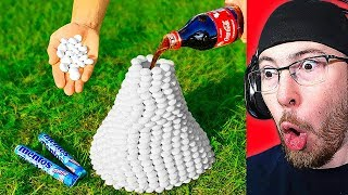 I Found a VOLCANO of 1000 Mentos VS Coca Cola!