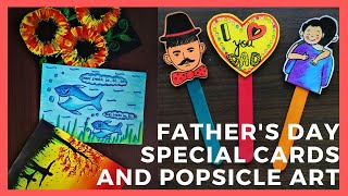 DIY Fathers Day Special Cards/Popsicle Art/Handmade Craft Ideas
