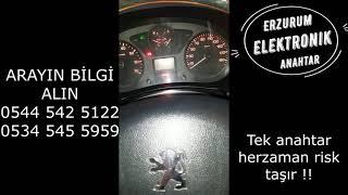 2011 Peugeot Partner Kayıptan Sustalı Kumandalı Anahtar Yapımı