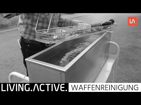 Waffenreinigung im Ultraschallbad