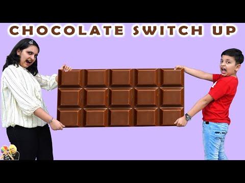 CHOCOLATE SWITCHUP CHALLENGE | Funny chocolate challenge | Aayu and Pihu Show