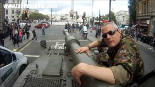 Driving A Tank Past Big Ben & Downing Street In London!