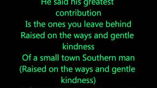 Alan Jackson - Small Town Southern Man [ LYRICS ]