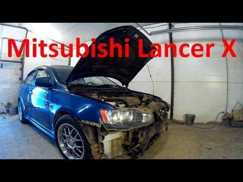 Ланцер 10 ремонт кузова и окраска в Нижнем Новгороде. Mitsubishi Lancer X Auto body repair.