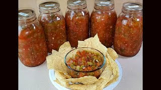 Making And Canning Fresh Chunky Salsa - Complete Walkthrough