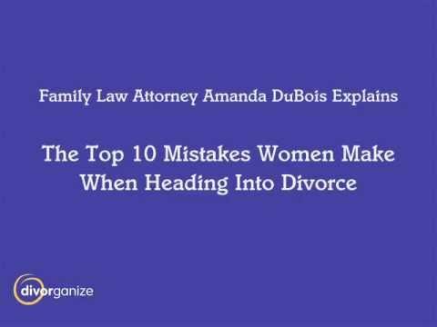 The Top Ten Seattle Divorce Mistakes - Seattle Divorce Attorney Amanda  DuBois
