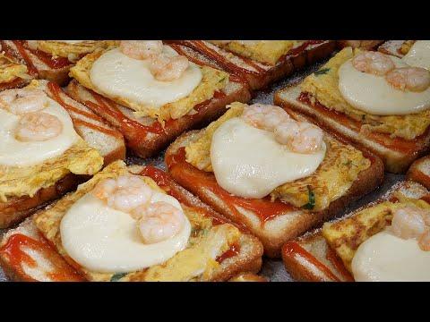cheese shrimp toast / korea street food