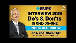 Do's & Don'ts in One on One Interview SBI PO INTERVIEW 2019