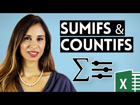 Excel SUMIFS (better version of SUMIF), COUNTIFS & AVERAGEIFS (Multiple Criteria)