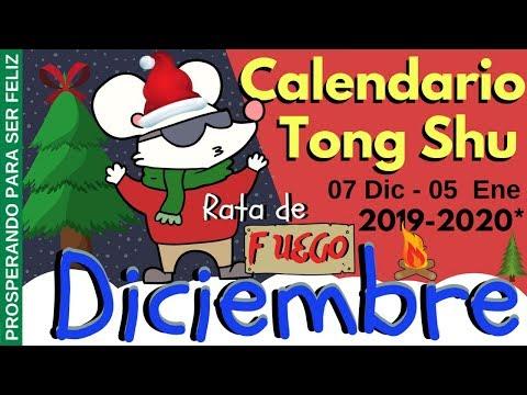 Calendario Tong Shu Diciembre 2019, Rata de Fuego