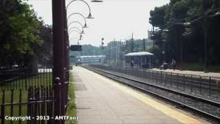 preview picture of video 'AMT commuter trains rush hour at Montreal-West station (part 1)'