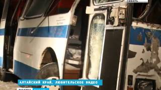 Трое погибли, 23 человека пострадали в ДТП с двумя автобусами в Алтайском крае