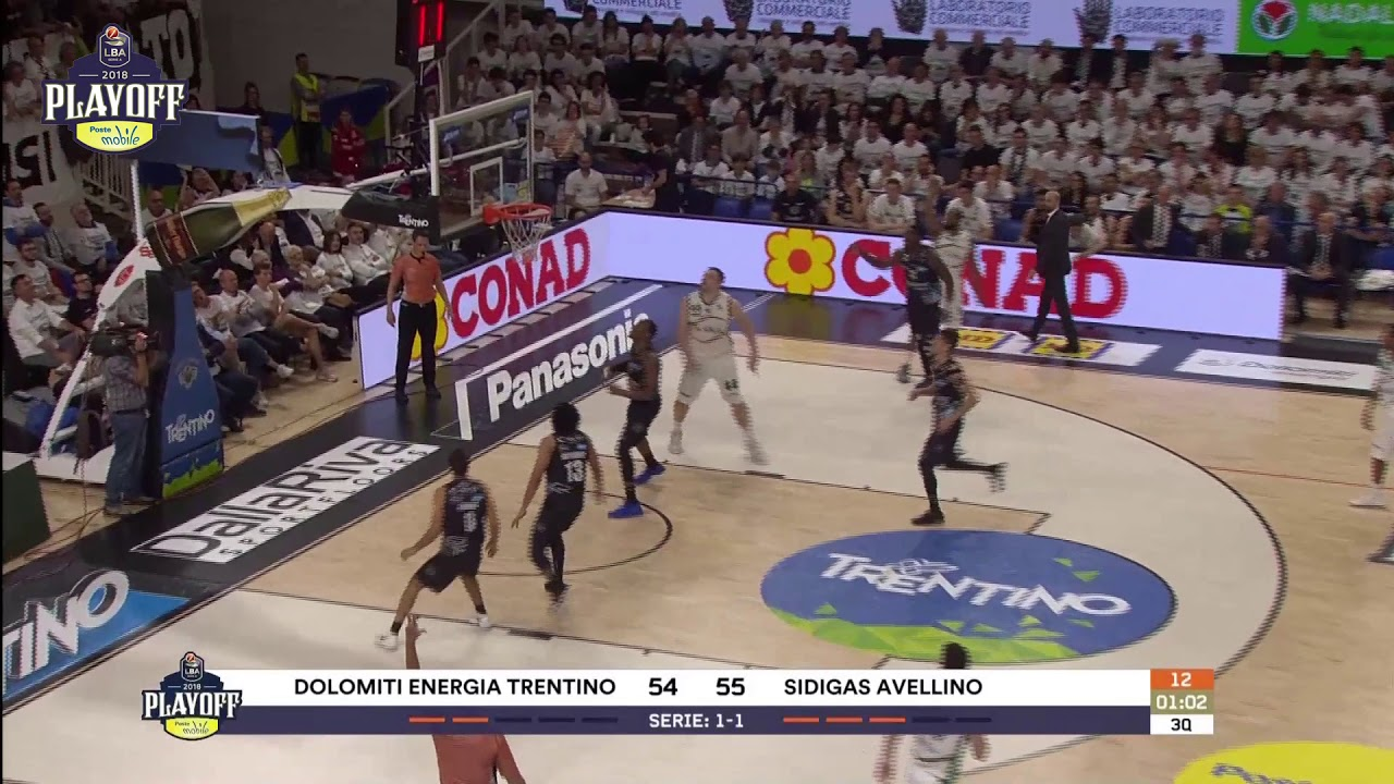 G3 LBA Playoff PosteMobile/ Dolomiti Energia Trentino - Sidigas Avellino 88-80