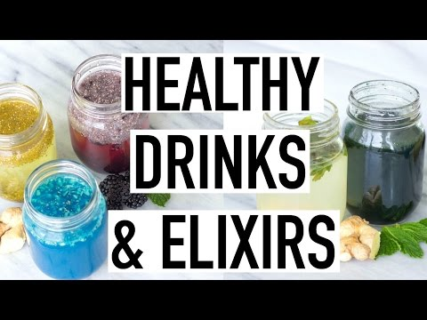 Video HEALTHY DRINK RECIPES! Weight loss, Bloating, Glowing Skin & More!