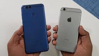 Honor 7X vs iPhone 6 ( ios 11.1.1 ) SPEEDTEST COMPARISON
