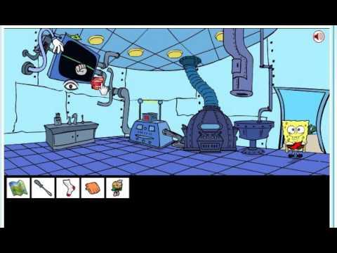 Губка Боб: Найди Выход из Комнаты. Часть 1; Spongebob Saw Game. Part 1