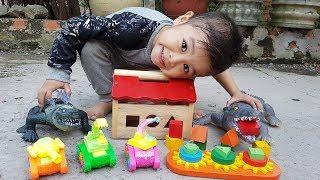 Trò Chơi Nhà Gỗ Xe Con ❤ ChiChi ToysReview TV ❤ Đồ Chơi Trẻ Em Baby Doli Song