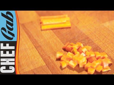 Tagliare un ortaggio a dadini o bastoncini in 2 minuti!