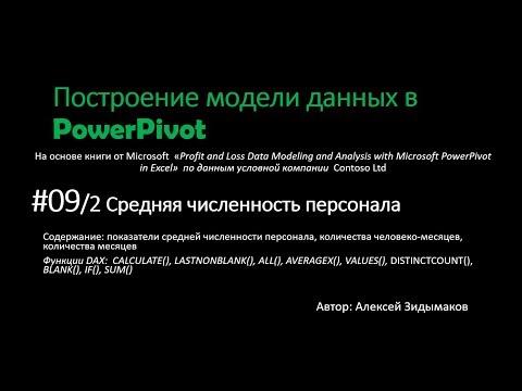 09.2 Расчет средней численности сотрудников, трудозатрат в PowerPivot
