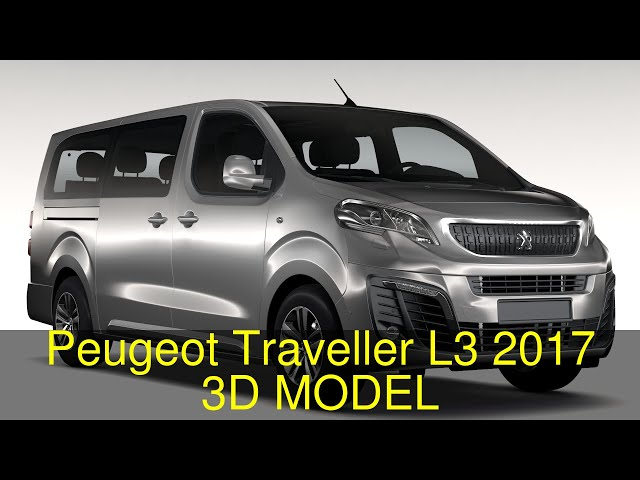 Peugeot Traveller L3 2017 3d Model Flatpyramid
