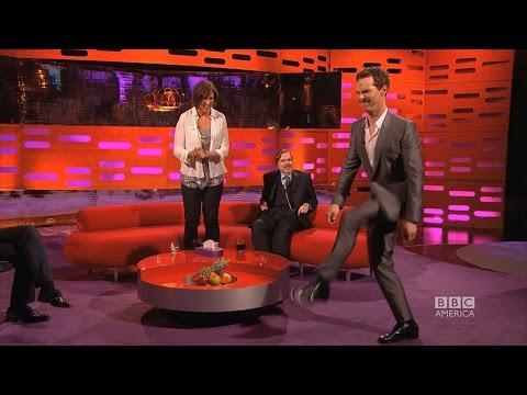 Benedict Cumberbatch a Miranda Hart u Grahama Nortona