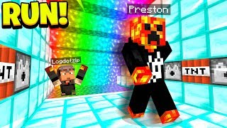 MINECRAFT RAINBOW 1v1 LAVA RUN CHALLENGE!