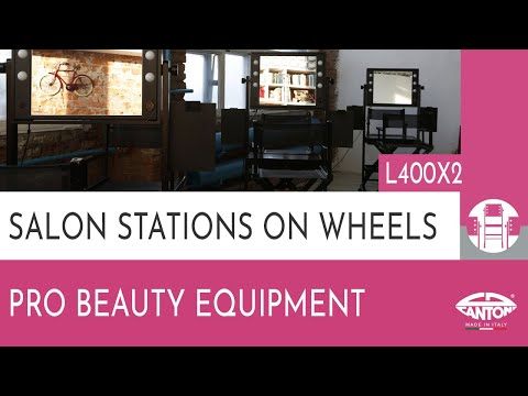 video L400X2  TWO-WAY VANITY TABLE ON WHEELS