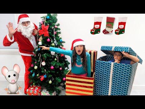 , title : 'MARIA CLARA E JP EM: OS ESPIÕES DO PAPAI NOEL / Kids Catching Santa on Christmas Morning!'