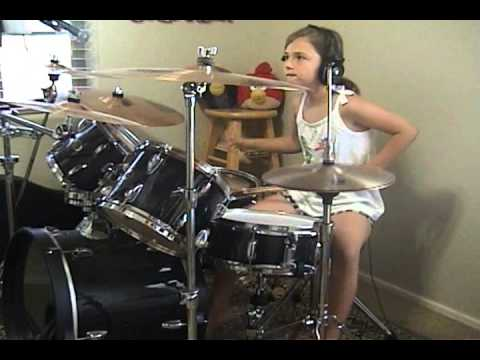 """Audioslave """"Be Yourself"""" a drum cover by Emily"""