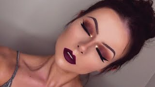 Soft Glam Palette Makeup Tutorial - Deep Red & Gold Smokey Eye