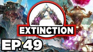 ARK: Extinction Ep.49 - QUAD XP BOOST, SOLO GIGANOTOSAURUS vs RED OSD!!! (Modded Dinosaurs Gameplay)