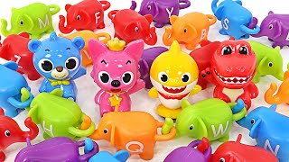 With Baby Shark and Pinkfong! Guess the colorful alphabet elephant puzzle!   PinkyPopTOY