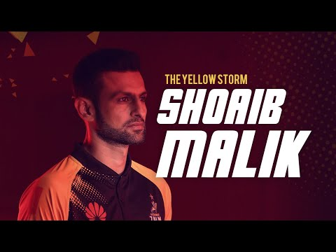 SHOAIB MALIK JOINS THE YELLOW STORM!
