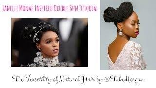 Janelle Monae Inspired Double Bun Tutorial for Natural Hair