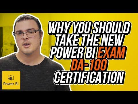 Why you should take the new Power BI Exam DA-100 - YouTube