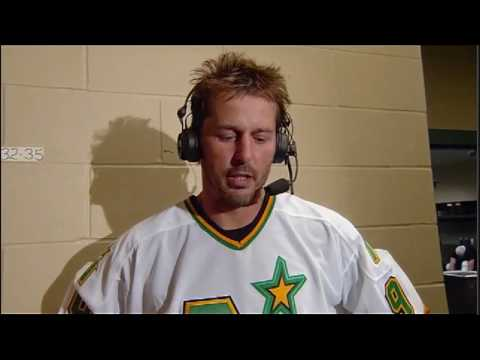 Mike Modano Last Game and Interview. 03.10.10
