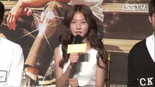 140707 High School: Love On Press Conference, Kim Saeron cut