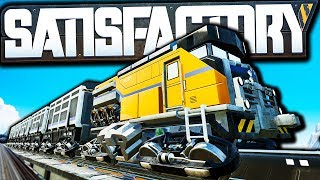 Satisfactory Trains Update is FINALLY Out! | Satisfactory Early Access Gameplay Ep 41