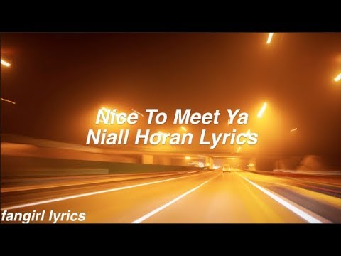Nice to Meet Ya || Niall Horan Lyrics