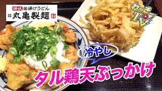 丸亀製麺冷やしタル鶏天ぶっかけが美味い!