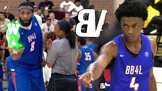 Andre Drummond Hits STEP BACK 3?! Shows Up LATE To Drew League & Dominates With Stanley Johnson!