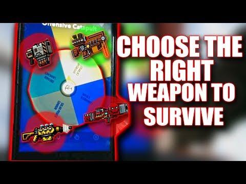 CHOOSE THE RIGHT WEAPON TO SURVIVE | Pixel Gun 3D | Random Weapon