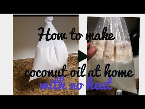 HOW TO MAKE COLD PRESS COCONUT OIL AT HOME ( NO HEAT METHOD).