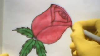 How To Draw A Rose bud easy como dibujar una rosa Fun 2 Draw step by step