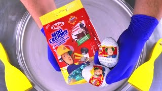 Fireman Sam Surprise Ice Cream Rolls   rolled Ice Cream with Chocolate & Surprise Egg Toys for Kids