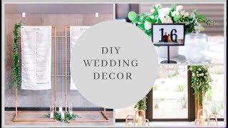 How I Made DIY WEDDING DECOR
