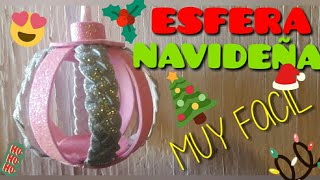 ESFERAS NAVIDEÑAS HECHAS DE FOAMY - GOMA EVA | MANUALIDADES NAVIDEÑAS FACILES