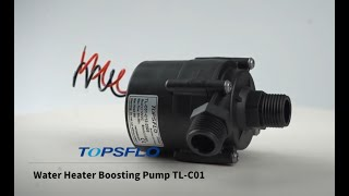 Brushless High pressure booster pump youtube video